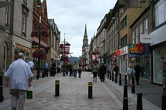 Inverness High Street heading towards Church Street A street in inverness.jpg
