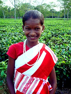 Tea-tribes of Assam - A Tea-tribe girl of Assam