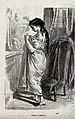 A woman pulling open her nightgown as she searches for fleas Wellcome V0019959ER.jpg