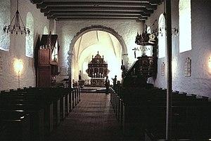 Aa Church - Image: Aakirke(35)Skibet set mod øst
