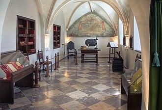 Treaty of Oliva - Room in the monastery of Oliwa where the treaty was signed