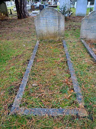 Abdul Rahman Andak - Andak's grave in Brookwood Cemetery