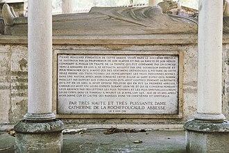 Peter Abelard - Dedicatory panel in the Père Lachaise Cemetery