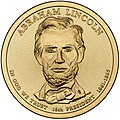 Abraham Lincoln $1 Presidential Coin obverse sketch.jpg