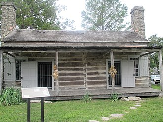 Columbus, Texas - Abram Alley Log Cabin (1830s); now used also as Tool Museum in Columbus