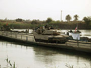 Abrams crossing Euphrates