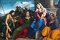 Accademia - Holy Family with Saints Catherine of Alexandria and John the Baptist by Palma il Vecchio.jpg