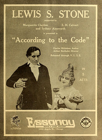 Lewis Stone - According to the Code (1916)