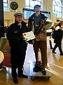 Achtung - hier haben Diebe leichtes Spiel, Sicherheits-Information der Bundespolizei in der Vor-Weihnachtszeit im Hauptbahnhof Hannover.JPG