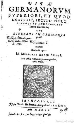 Melchior Adam - Vitae germanorum philosophorum, 1615