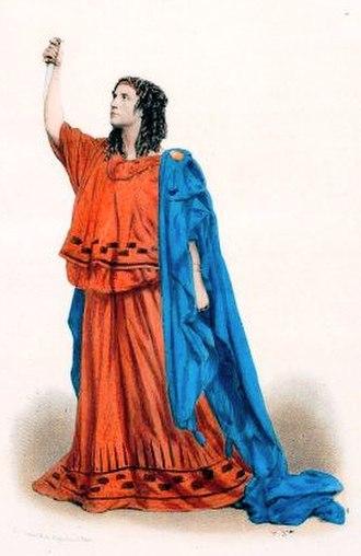 Adelaide Ristori - Image: Adelaide Ristori in Ernest Legouvé's Médée