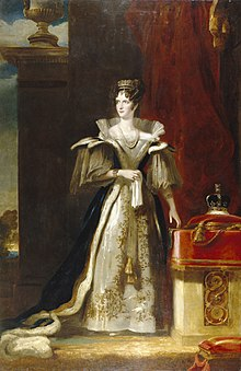 Portrait of Queen Adelaide painted by John Simpson in 1832 (Source: Wikimedia)