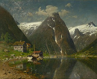 Adelsteen Normann - Image: Adelsteen Normann Munken gård i Esefjorden