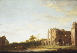 Rijnsburg Abbey - Landscape with the ruins of the Abbey of Rijnsburg (Aelbert Cuyp c.1640 - 1642)