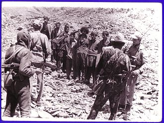 Soviet–Afghan War - Soviet forces after capturing some Mujahideen