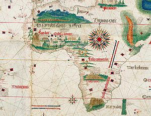 Evolution of the Portuguese Empire - From Cantino planisphere of 1502.