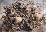 After leonardo da vinci, The Battle of Anghiari by Rubens, Louvre.jpg