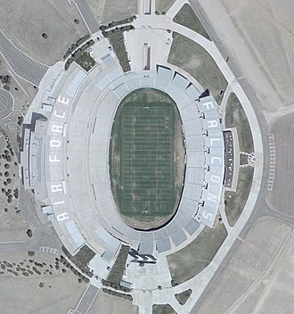 Falcon Stadium - Image: Air Force Football Stadium Satellite