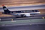 Airbus A319-112 cn 1055 N716UW US Aiways SFO 24Sep99.jpg