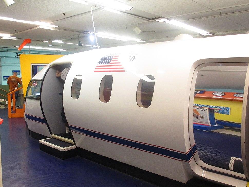Airplane exhibit at San Antonio Children%27s Museum IMG 5354