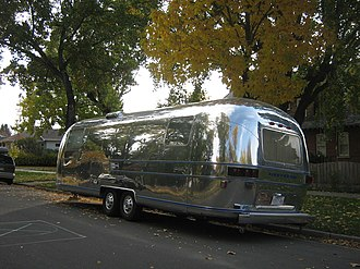 Airstream - A large Airstream trailer