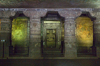 Mahāsāṃghika - Cave 1, Ajaṇṭā Caves, Mahārāṣtra, India