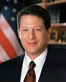 Portrait officiel d'Albert A. Gore, Jr. en 1994.