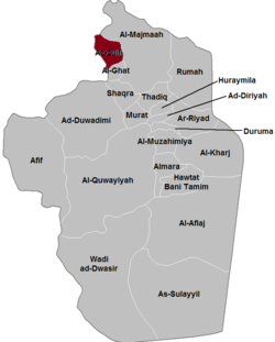 Location of Al Zulfi