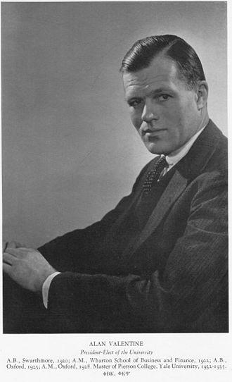 Alan Valentine - Image: Alan C Valentine 1936