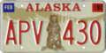 Alaska license plate, 1976–1980 series with 1981 sticker.png