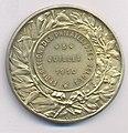 Albert Roi des Belges - Fédération de Philatelistes Belges 1910, medal by Jacques Marin (1877-1950), Belgium, 1910, Coins and Medals Department of the Royal Library of Belgium, 2M204 - 26 (verso).jpg