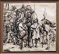 Albrecht dürer, cinque lanzichenecchi e un uomo orientale a cavallo, 1495 ca., incisione.jpg