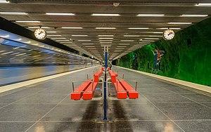 Alby metro station - Station platforms, September 2014
