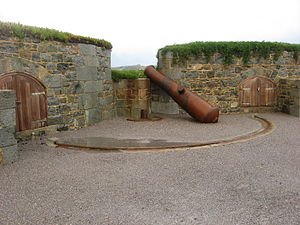 Fortifications of Alderney - Fort Clonque cannon