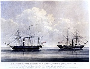 Battle of Nam Quan - HMS Rattler (right) and HMS ''Alecto'' in 1845.