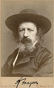 Alfred Lord Tennyson, autographed portrait by Elliott & Fry