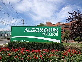 Algonquin College - The entrance sign at the Woodroffe campus