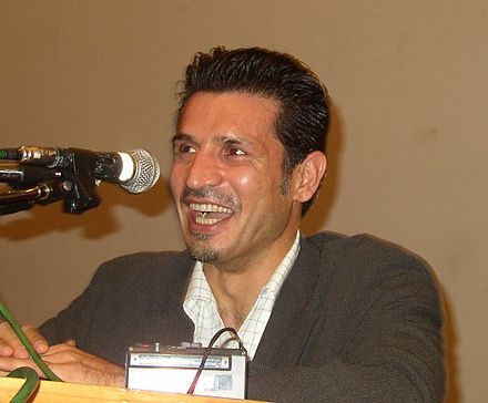 Ali Daei, the world's all-time leading goal scorer in international matches and the former captain of the Iran national football team. Ali-Daei-cropped.jpg