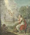 Allegorische voorstelling op de geboorte van Willem Frederik (1772-1843), prins van Oranje-Nassau, de latere koning Willem I Rijksmuseum SK-A-4194.jpeg