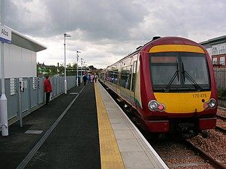 Alloa railway station - Image: Alloa station facing towards Stirling