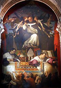 Alms of Saint Anthoninus by Lorenzo Lotto - Santi Giovanni e Paolo - Venice 2016 1.jpg