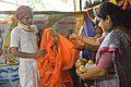 Almsgiving to Brahmachari - Upanayana Ceremony - Simurali 2015-01-30 5680.JPG