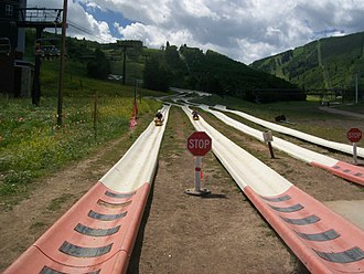 Park City Mountain Resort - Alpine Slide at Mountain side Resort in Park City, Utah