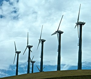 Wind turbines at Altamont Pass near Livermore,...