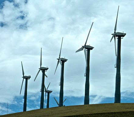 Turbines near Livermore, California - Altamont Pass Wind Farm