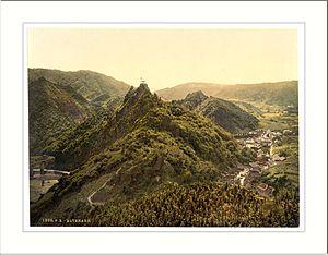 Ahr Valley - Historic view of the  Ahr valley near Altenahr
