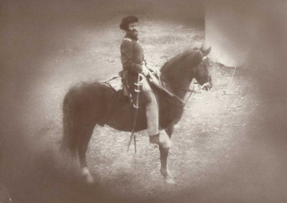 Alternative (and clearer) image of Capt. Mathew Simpson Clegg of the 5th Indiana Cavalry Regiment, Co. M