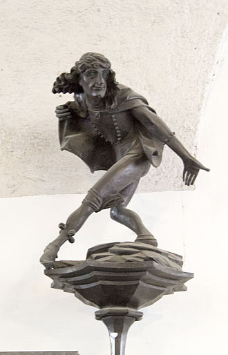 Fool (stock character) - German jester depicted at Altes Rathaus ln München