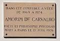 Amorim de Carvalho plaque - 52 rue Gay-Lussac, Paris 5.jpg