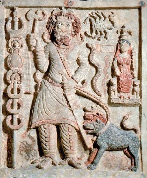 File:Ancient Parthian relief carving of the god Nergal from Hatra.jpg